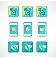 Retro telephone web icon vector image