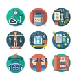 Sport lifestyle flat color icons set vector image
