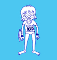 Super kid hero boy cartoon vector image