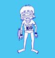 Super kid hero boy cartoon vector image