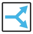 Bifurcation Arrow Right Framed Icon vector image