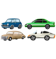 Four sets of luxury cars vector image vector image