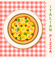 seafruit pizza vector image
