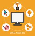 digital marketing management production image vector image