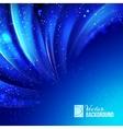 Snow on blue luminous rays vector image
