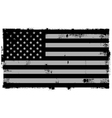 Grunge Black American Background vector image