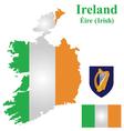 Irish Flag vector image vector image
