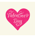 Greeting card with pink heart vector image