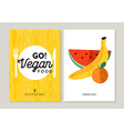 Vegan food designs for healthy eating vector image