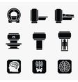 Medical MRI scanner diagnostic icons vector image vector image