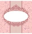 Vintage Floral Polka Dots Card vector image vector image