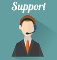 Business customer care service concept flat icons vector image