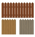 Fence with different wooden texture pattern vector image