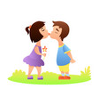 first love kiss vector image