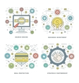 Flat line Search Engine Investment Deal vector image