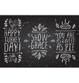 Hand-sketched typographic elements for vector image