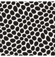 Seamless Black and White Distorted Circles vector image