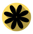 flower sign   flat black icon vector image