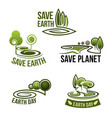 icons for earth nature ecology environment vector image