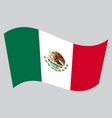 flag of mexico waving on gray background vector image