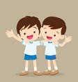 happy best friends boys vector image