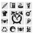 breakfast icon vector image vector image
