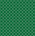 Quatrefoil green vector image