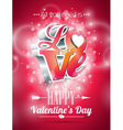 Valentines Day with 3d Love vector image