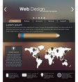 Menu design for web site vector image