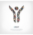 great people crowd vector image