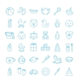Baby set icons vector image