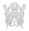 Tattoo Octopus Hand drawn zentangle tribal vector image