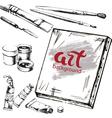 Art accessorise background vector image