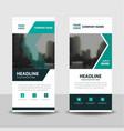 Green black business roll up banner flat design vector image