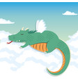 lazy dragon cartoon vector image