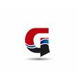 Letter G logo icon design template elements vector image