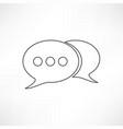 line speech bubble vector image