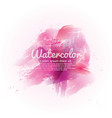 Pink watercolor abstract background vector image