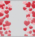 red and pink hearts translucent located on both vector image