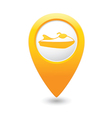 scooter icon yellow map pointer vector image