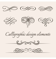 set of calligraphic and page decoration vector image
