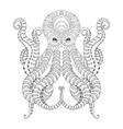 Tattoo Octopus Hand drawn zentangle tribal vector image