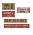 ticket vintage luggage travel pass tag design old vector image
