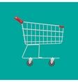 Empty supermarket shopping cart vector image