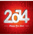Happy New Year 2014 celebration design vector image vector image