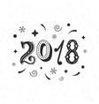 2018 hand written modern brush lettering vector image