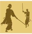 Samurai vector image
