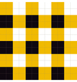 Lines Dots Yellow Black White Chessboard vector image