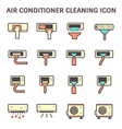 Air conditioner clean vector image