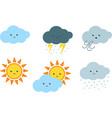 cute weather cartoon clipart vector image